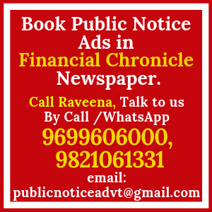 Book Public Notice ads in Financial Chronicle Newspaper