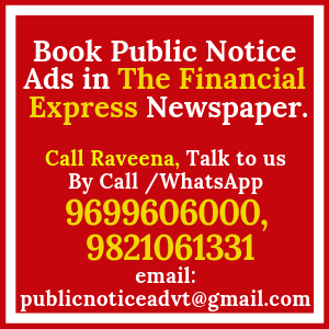 Book Public Notice ads in The Financial Express Newspaper