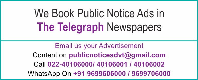 Online The Telegraph Newspaper Lost and Found Ads, Public Legal Tender Notice ads, Share certificate lost, Government Bank Public Notice Updated Year 2016-2017 The Telegraph PUBLIC NOTICE IMAGE NEWSPAPER